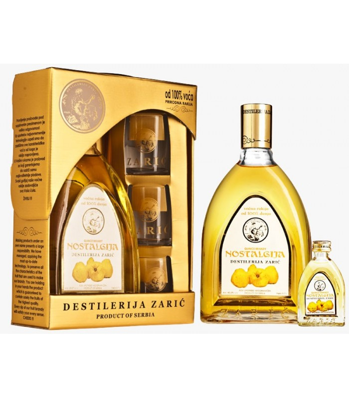 Home > Nostalgija Quince brandy Lux with glasses 700 ml