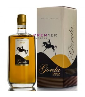 Podrum Pevac Zlatni Pevac Quince brandy 700ml with 23 carat golden leaves