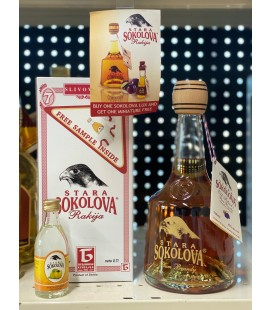 Stara Sokolova Plum brandy Lux 0.7l Gift Box plus FREE 50ml sample