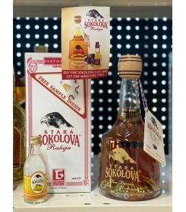 Stara Sokolova Plum brandy Lux 0.7l Gift Box plus FREE 50ml sample