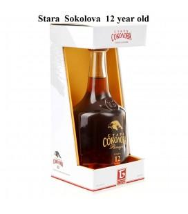 Stara Sokolova Plum brandy 700ml Lux 12 years old