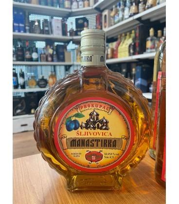 Manastirka Prepecenica Plum brandy 750ml Flask